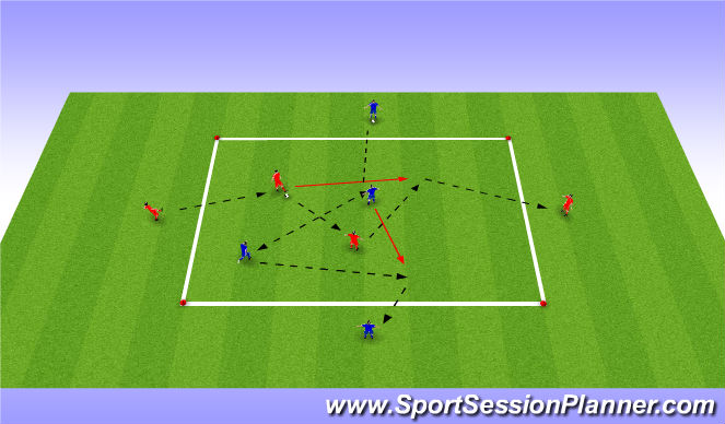Football/Soccer Session Plan Drill (Colour): Passing Warm Up Variation 1