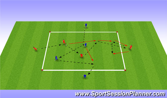 Football/Soccer Session Plan Drill (Colour): Passing Warm Up Variation 3