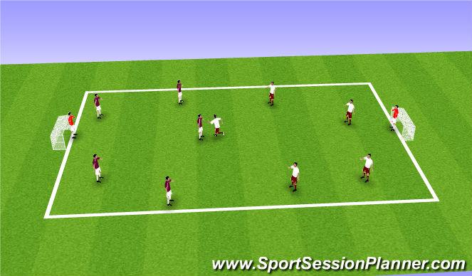 Football/Soccer Session Plan Drill (Colour): Matt-Scrimmage