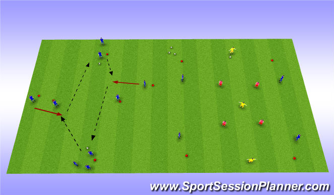 Football/Soccer Session Plan Drill (Colour): Stage1: Warm-up