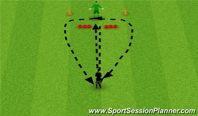 Football/Soccer Session Plan Drill (Colour): Weighted pass