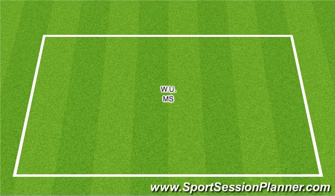 Football/Soccer Session Plan Drill (Colour): W.U. / SAQ - MS