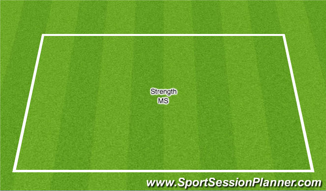 Football/Soccer Session Plan Drill (Colour): Strentgth w/ MS Half of the group then switch