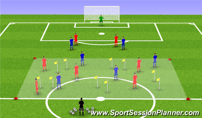 Football/Soccer Session Plan Drill (Colour): Breakout the box