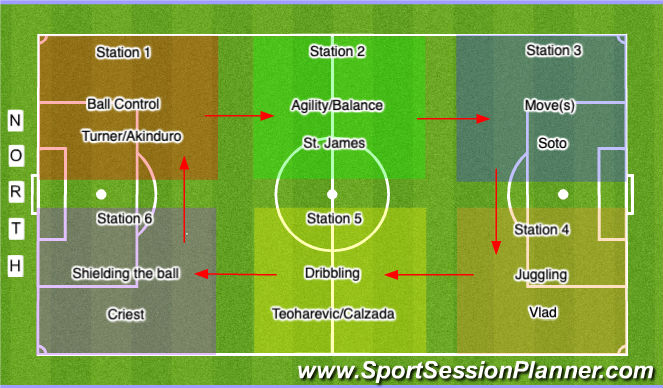 Football/Soccer Session Plan Drill (Colour): 6PM