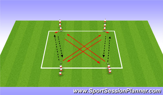 Football/Soccer Session Plan Drill (Colour): Warmup1