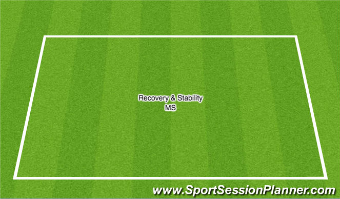 Football/Soccer Session Plan Drill (Colour): Recovery & Stability MS