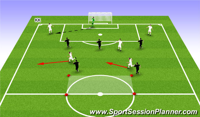 Football/Soccer Session Plan Drill (Colour): Building out the back