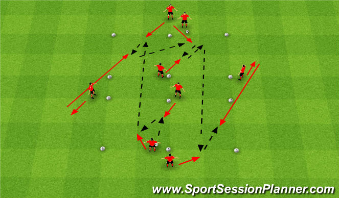 Football/Soccer Session Plan Drill (Colour): Technical: 3rd Man Passing
