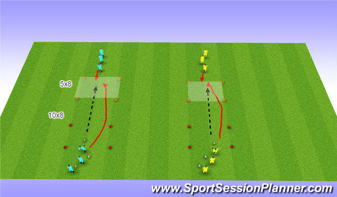 Football/Soccer Session Plan Drill (Colour): Activity 1 (1v1)