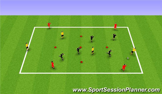 Football/Soccer Session Plan Drill (Colour): PP 4v4+4
