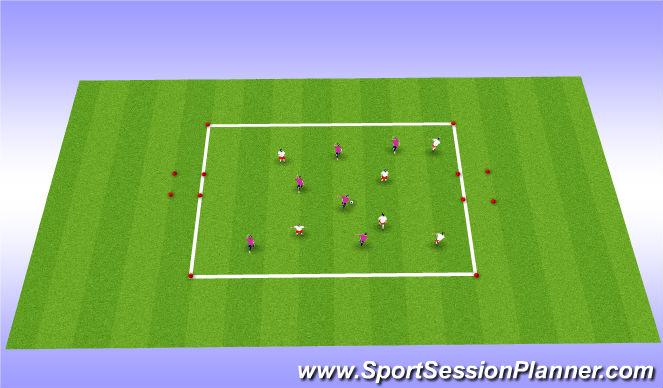 Football/Soccer Session Plan Drill (Colour): Station 3:Handball
