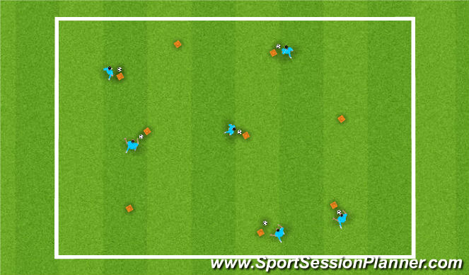 Football/Soccer Session Plan Drill (Colour): The Network