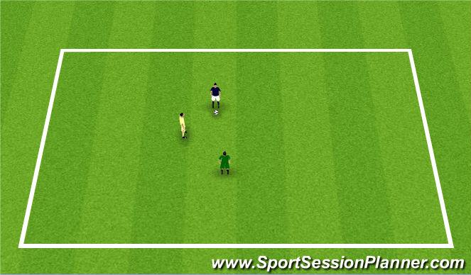 Football/Soccer Session Plan Drill (Colour): 1v1v1
