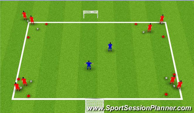 Football/Soccer Session Plan Drill (Colour): Chelsea 1v1
