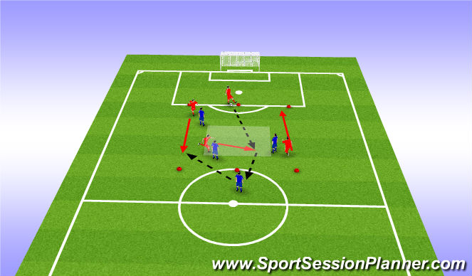 Football/Soccer Session Plan Drill (Colour): Analitical: Skill Building