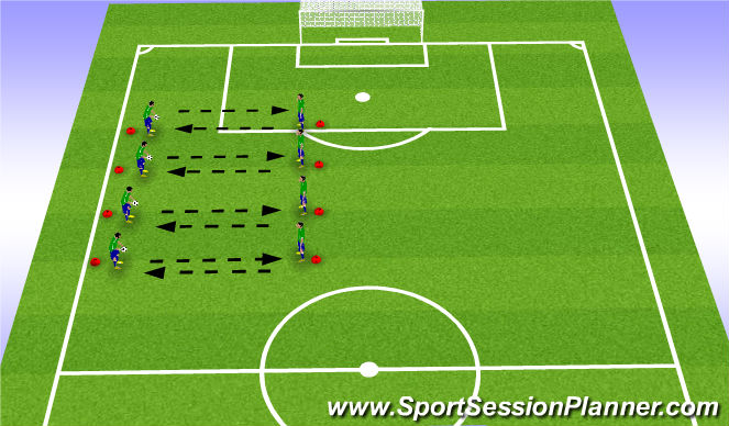 Football/Soccer Session Plan Drill (Colour): Hand Distrubution