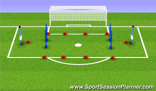 Football/Soccer Session Plan Drill (Colour): TIKI TAKA - 1ST TOUCH PRACTISE