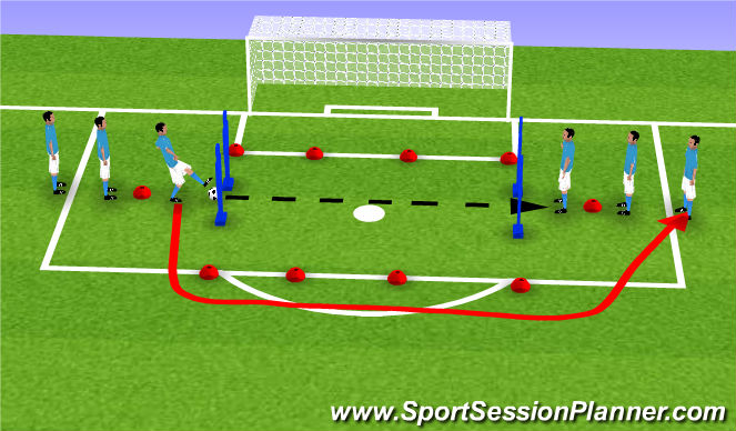 Football/Soccer Session Plan Drill (Colour): START OF DRILL