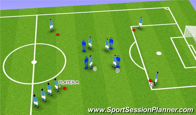 Football/Soccer Session Plan Drill (Colour): TIKI TAKA - PASSING