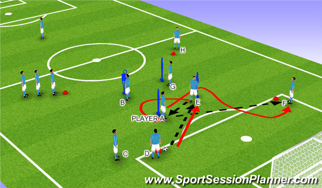 Football/Soccer Session Plan Drill (Colour): 2ND QUARTER