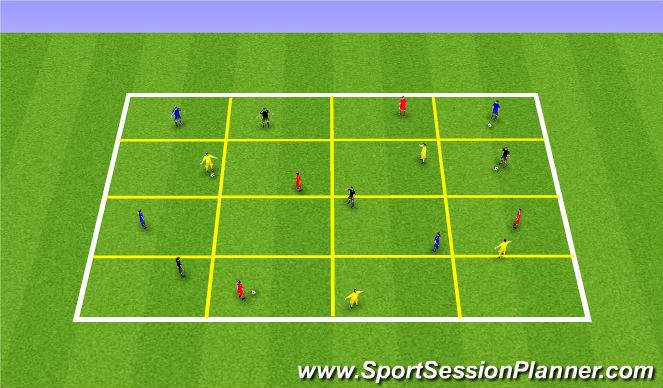 Football/Soccer Session Plan Drill (Colour): Grid - Progression
