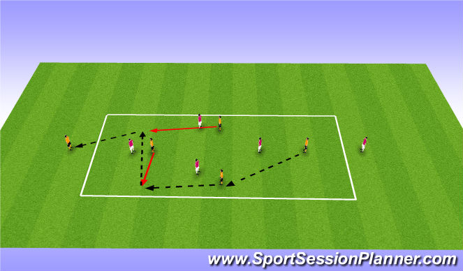 Football/Soccer Session Plan Drill (Colour): Whole