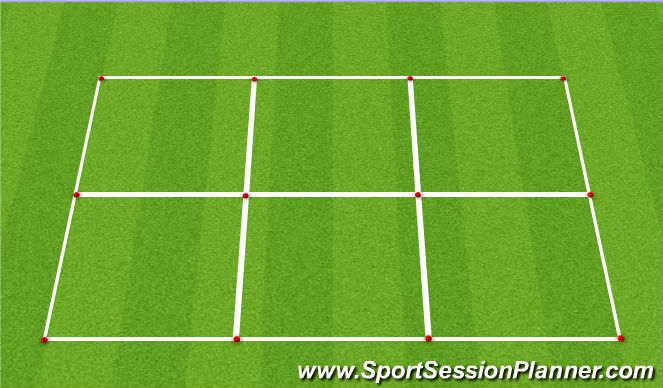 Football/Soccer Session Plan Drill (Colour): 2v0 and 2v1