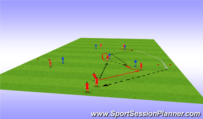 Football/Soccer Session Plan Drill (Colour): Passing 2