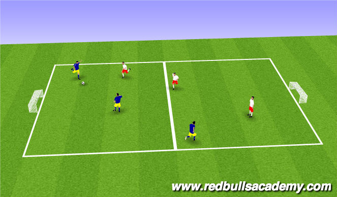 Football/Soccer Session Plan Drill (Colour): 3v3 Play