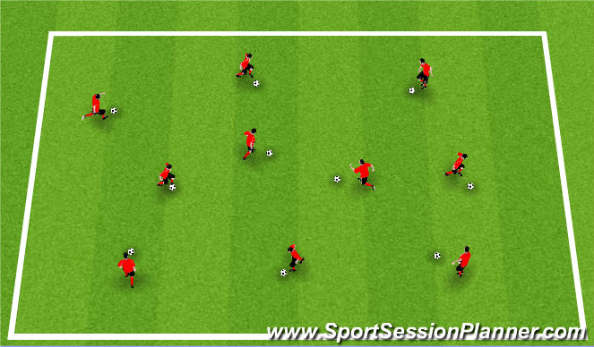 Football/Soccer Session Plan Drill (Colour): Activity I / Warm-up