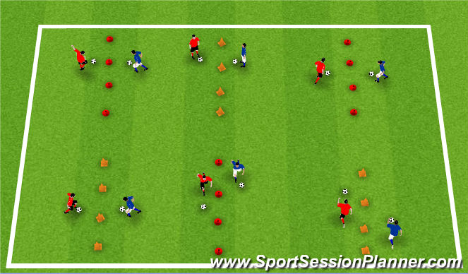 Football/Soccer Session Plan Drill (Colour): Activity II / Moves & Turns