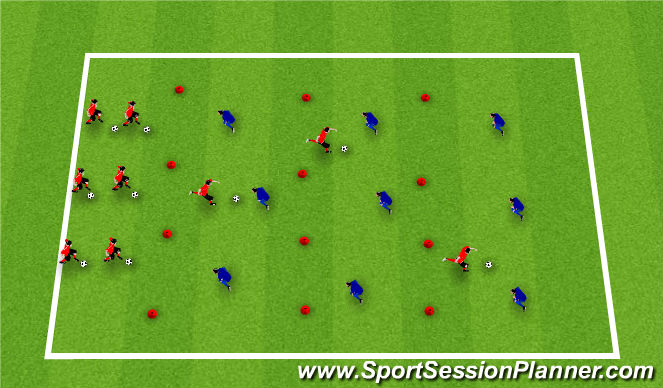 Football/Soccer Session Plan Drill (Colour): Activityy III / Moves & Turns