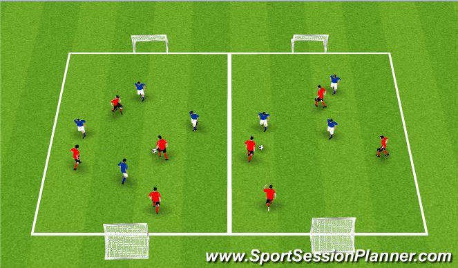 Football/Soccer Session Plan Drill (Colour): Activity IV / Small Side Games