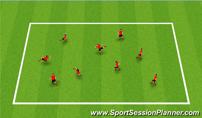 Football/Soccer Session Plan Drill (Colour): Activity V / Cool Down