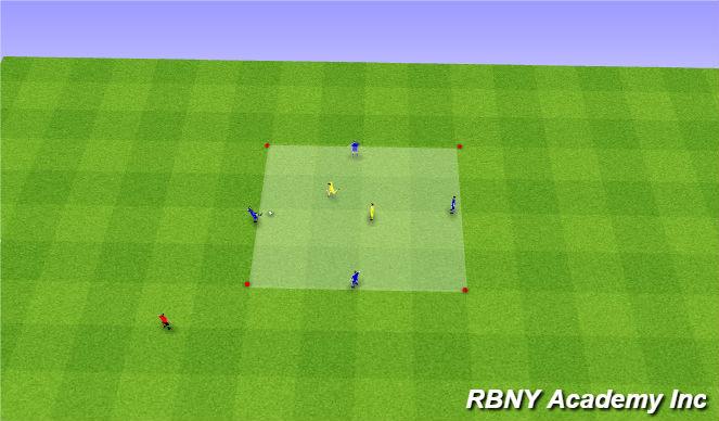 Football/Soccer Session Plan Drill (Colour): Intro - 4v2