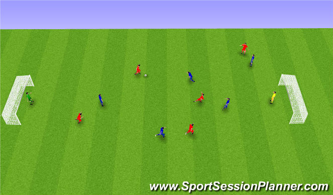 Football/Soccer Session Plan Drill (Colour): Spil á litlum velli.
