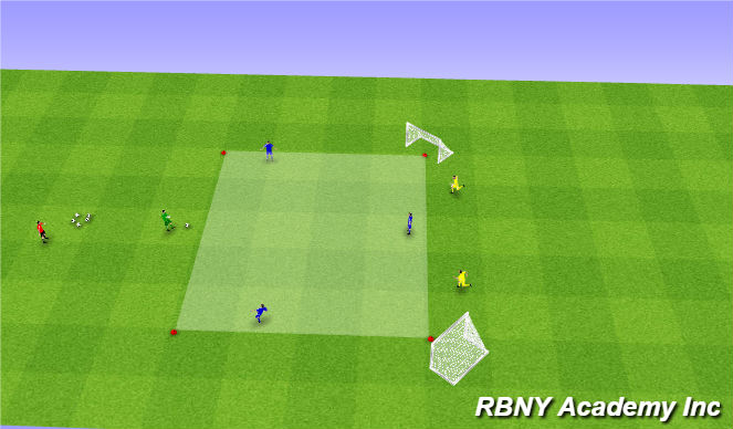 Football/Soccer Session Plan Drill (Colour): Main - 4v2s