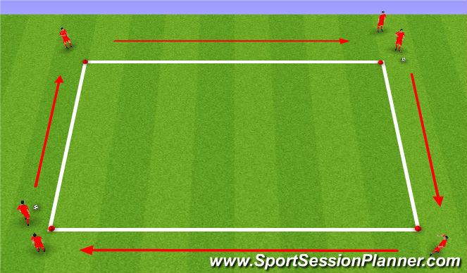 Football/Soccer Session Plan Drill (Colour): Technical Practice U9 & U10