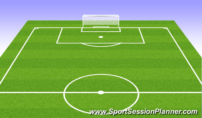 Football/Soccer Session Plan Drill (Colour): Blank Field