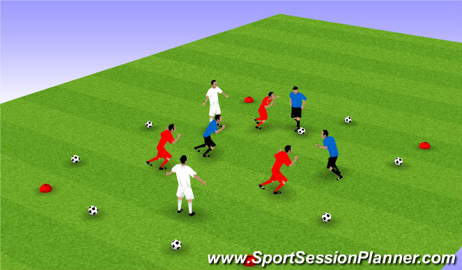 Football/Soccer Session Plan Drill (Colour): Keeping Possession in Tight Areas