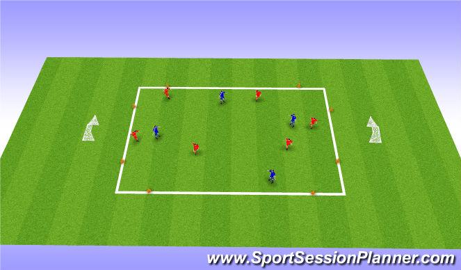 Football/Soccer Session Plan Drill (Colour): 4v6 underload