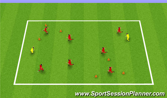 Football/Soccer Session Plan Drill (Colour): Hospital Tag
