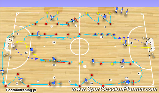 Futsal Session Plan Drill (Colour): Wariant 2