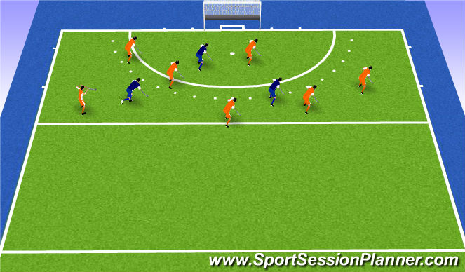 Hockey Session Plan Drill (Colour): balbezit 8v3