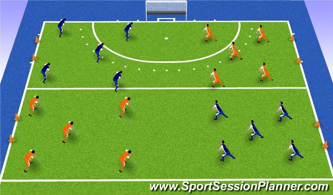 Hockey Session Plan Drill (Colour): match 3x10