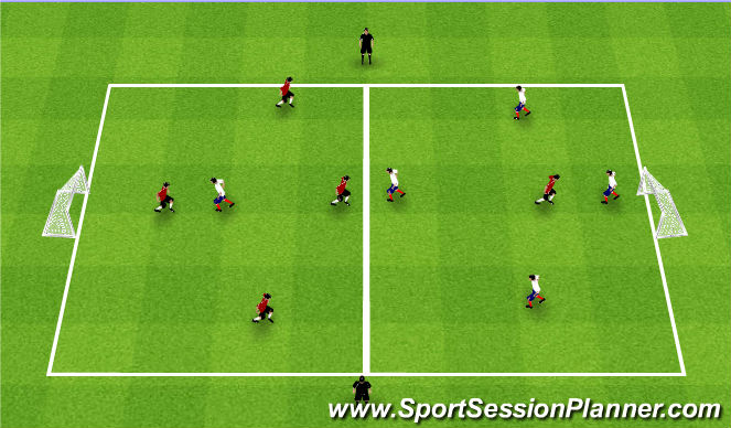 Football/Soccer Session Plan Drill (Colour): Fall ODP 2nd session Week 7