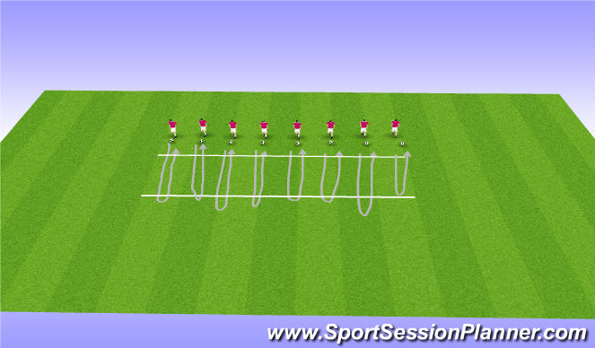 Football/Soccer Session Plan Drill (Colour): Parallel Lines