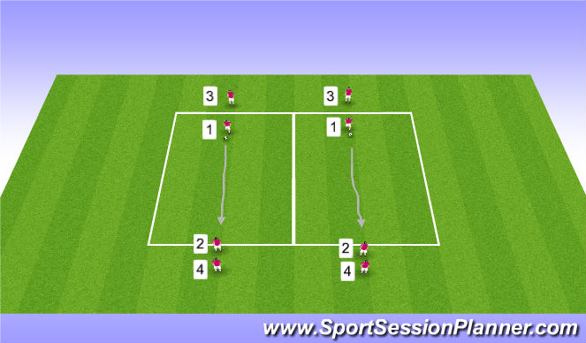 Football/Soccer Session Plan Drill (Colour): Eyes Up While Dribbling