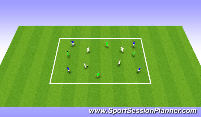 Football/Soccer Session Plan Drill (Colour): TRFC Curriculum Session 6: To improve possession play